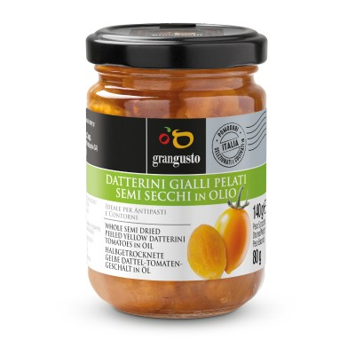 Datterini Gialli Pelati semi secchi in olio