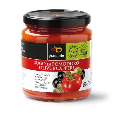 Sugo di pomodoro olive e capperi